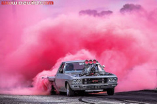 "Highway Max Coloured Smoke Burnout Drift Tyre 205/65R15"" Pink"