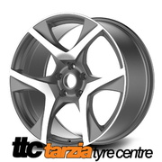 20 x 8.5 / 9.5 Inch VF2 R8 Style Wheels Gunmetal Staggered X4 Suits Commodore VE - VF HSV