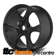 20 x 8.5 / 9.5 Inch VF2 R8 Style Wheels Satin Black Staggered X4 Suits Commodore VB - VZ HSV