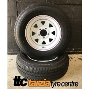 "Dynamic 14x6"" Triangle Hole HQ-WB Holden & Chev Steel Wheel 5x120.65 +12 White"