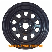 "Dynamic 15x7"" D Shape Hole Drift Steel Wheel 4x100 +12 Black"