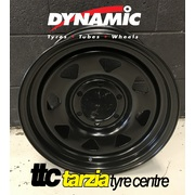 "Dynamic 15x7"" Triangle/Sunrasia Style Hole 4x4 Steel Wheel 6x139.7 +10 Black"