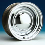 "Dynamic 15x8"" 5x114.3 & 5x120.65 Multi Stud Steel Wheel +6 Smooth Chrome"