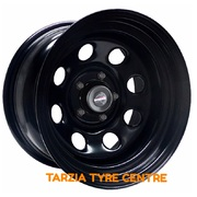 "Dynamic 15x8"" Soft 8 4X4 Steel Wheel 5x114.3 -25 Black"