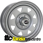 "Dynamic 15x8"" Triangle/Sunrasia Style Hole 4x4 Steel Wheel 6x139.7 -22 Silver"