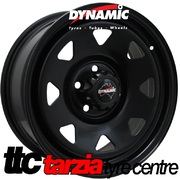 "Dynamic 16x7"" Triangle Sunraysia Subaru Steel Wheel 5x100 +30 Black"