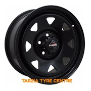 "Dynamic 16x7"" Triangle Sunraysia Ford Toyota Hilux 2x4 Steel Wheel 5x114.3 +30 Black"