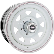 "Dynamic 16x7"" Triangle Sunraysia Volkswagen 4X4 Steel Wheel 5x120 +25 White Amarok Transporter"