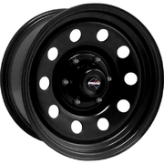 "Dynamic 16x8"" Round Hole Volkswagen 4X4 Steel Wheel 5x120 +30 Black"