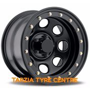 "Dynamic 16x8"" Soft 8 Imitation Beadlock 4X4 Wheel 5x150 -50 Black Land Cruiser"