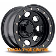 "Dynamic 16x8"" Soft 8 Imitation Beadlock 4X4 Wheel 5 x150 +0 Black Land Cruiser"