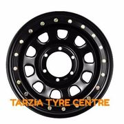 "Dynamic 16x8"" D Shape Imitation Beadlock 4X4 Wheel 6x114.3 +20 Black Nissan Navara"