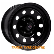 "Dynamic 16x8"" Circle Hole 4X4 Steel Wheel 6x114.3 +20 Black"