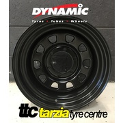 "Dynamic 16x8"" D Shaped Hole 4X4 Steel Wheel 6x114.3 +20 Black Nissan Navara"