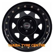 "Dynamic 16x8"" Triangle Sunraysia Imitation Beadlock 4X4 Steel Wheel 6x139.7 +0 Black"