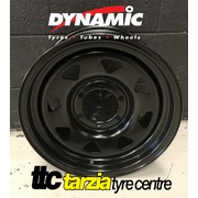 "Dynamic 16x8"" Triangle Sunraysia 4X4 Steel Wheel 6x139.7 +0 Black"