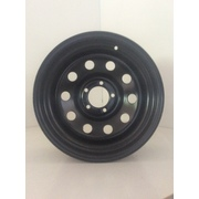 "Dynamic 17x7.5"" Circle Hole 4X4 Steel Wheel 5x120 +30 Black CB 72.5"