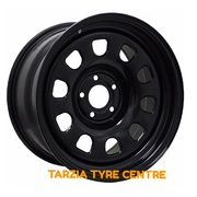 "Dynamic 17x8"" D Shape Hole HQ-WB Holden & Chev Steel Wheel 5x120.65 +10 Black"