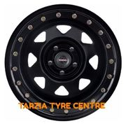 "Dynamic 17x8"" Triangle Sunraysia Imitation Beadlock 4X4 Steel Wheel 5x150 +30 Black"