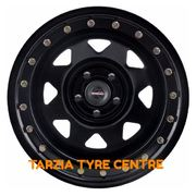 "Dynamic 17x8"" Triangle Sunraysia Imitation Beadlock 4X4 Steel Wheel 6x114.3 +20 Black"