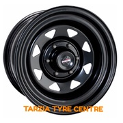 "Dynamic 17x8"" Triangle Sunraysia 4X4 Steel Wheel 6x114.3 +35 Black Nissan D40 NP300 Pathfinder R51"