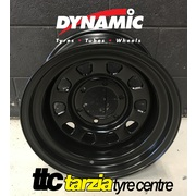 "Dynamic 17x9"" D Shape Hole 4X4 Steel Wheel 6x139.7 +18 Black"