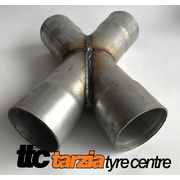 Exhaust Crossover Pipe Mild Steel Suit 3.5 Inch X Pipe Universal Aluminized