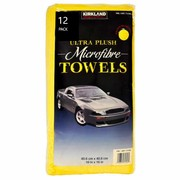 Kirkland Signature Ultra Plush Microfibre Cloths Towels Cleaning Car 12 Pieces