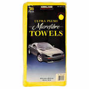 Kirkland Signature Ultra Plush Microfibre Cloths Towels Cleaning Car 36 Pieces