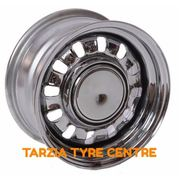 "Performance 15x8"" 12 Slot Steel Chrome Wheel 5x120.65 -6 Holden HQ - WB"