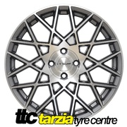 "PDW Velocity 17x7"" Package X4 Alloy Wheel 4x100 +40 Space Grey CB 73.1"