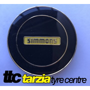 Simmons NEW Genuine Centre Cap Black with Gold Inlay 1 x Cap