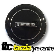 Simmons NEW Genuine Centre Cap Black with Silver Inlay 1 x Cap Limited Stock