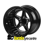 Street Pro ll 15 x 10 Inch Ford Falcon Bolt 5 x 4.50 4.5 inch Back Space Black