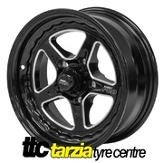 Street Pro ll 15 x 7 Early Holden Chev Bolt 5 x 4.25 3.5 inch Back Space Black