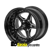 Street Pro ll 15 x 8.5 Inch Ford Falcon Bolt 5 x 4.50 5 inch Back Space Black STP002-158001F-BK