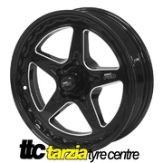Street Pro ll 17 x 4.5 Inch Holden Chev Bolt 5 x 4.75 1.75 inch Back Space Black STP002-174000-BK