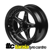 Street Pro ll 18 x 8 Inch Ford Falcon Bolt 5 x 4.50 4.5 inch Back Space Black STP002-188000F-BK