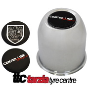Center Line Pull Through Style Centre Cap x2 Reproduction Replacement Chrome