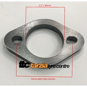 2 Bolt Exhaust Flange x2 H/Duty 12mm Mild Steel 92mm Bolt Centre Suit 2.5 Inch Pipe