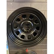 "TTC Burnout Edition 15x6"" D Shape Steel Wheel Multi 5x120.65 5x114.3 -12 3""BS Black"