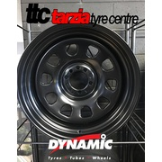 "TTC Burnout Edition 17x8"" D Shape Steel Wheel Multi 5x120.65 5x114.3 -25 3.5""BS Black"