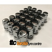 Wheel Nut Kit Suit 6 Stud 12x1.25mm 19mm Hex Head Chrome Steel Qty 24