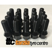 VW Wheel Stud Kit Suit 5 Stud 14x1.5mm 17mm Hex Black Steel Qty 20 Length 48mm
